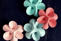 Blüten basteln / Origami, Papier, u.a.