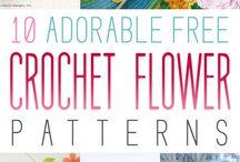 apliques de flores en crochet multiuso