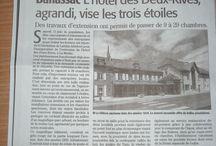Article de presse dédié à L'Hôtel Les 2 Rives / Voici quelques articles de journaux où l'hôtel les 2 rives a été mis à l'honneur. #journaux hôtel les 2 rives