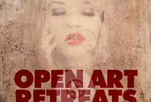 Open Art Retreats / Retreats for those interested in learning how to create Photo-Encaustic art work.