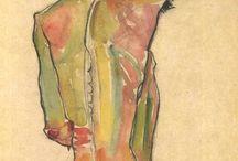 Egon Schiele/ or alike