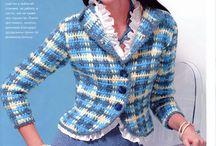 szydełkowe bluzy,swetry