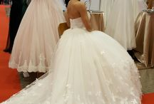 New wedding and evening gown at store