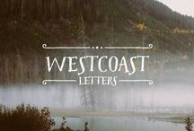 Westcoast Letters Font / Westcoast Letters is a fun hand painted headline font by Cultivated Mind. Westcoast Letters comes in comes in four font styles, extras, frames and page rulers. Westcoast Letters is a sister typeface to the ever popular Pacific Northwest font family. Westcoast characters are wider than Pacific Northwest and offer a new style of letters.  http://crtv.mk/codw