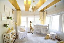 Gold Nursery / We absolutely LOVE gold accents in the nursery. See some of our favorite examples of how to pull off the bold color in the baby's room!