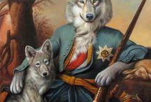 peintures  chiens