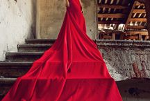 Red Dress Staircase