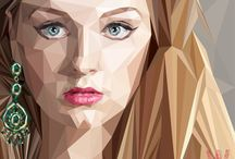 Webportrait / My vector drawing. Polygon art. I like to do it so much.
