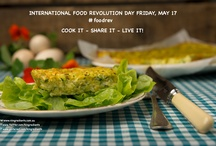 COOK IT - SHARE IT - LIVE IT! / COOK SHARE AND PIN YOUR RECIPE HERE! Food Revolution Day on 17 May is a global day of action for people to make a stand for good food and essential cooking skills.  Food Revolution Day aims to raise awareness about the importance of good food and better food education for everyone by focusing on three simple actions – cook it, share it, live it.  / by 4 Ingredients