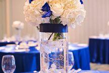 royal blue motif wedding idea