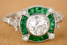 Emerald diamond rings / All about emeralds and diamonds