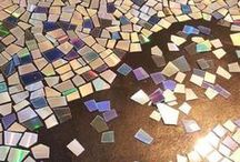 mosaico de  CD