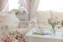 Shabby chic lounge room