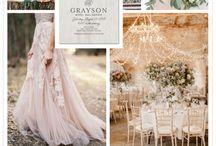 Palette nozze: rosa/ Pink wedding / Ispirazioni per il matrimonio in rosa/ Pink wedding ideas