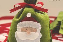 τσάντες χριστουγεννιατικες τσόχα