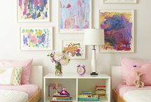 Sister shared room  / Violet and Penelope's bedroom/playroom 2 and 4 years / by Laurie Welsh