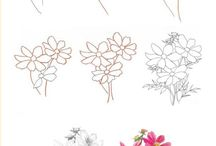 How to draw flowers and trees