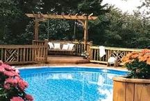 above ground pools and decks / by Barb Nash Shanks