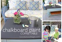 Blackboard Projects / Various uses for chalkboard paint! / by Amy Elizabeth