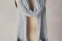 вязание шарф, снуд...