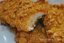Pollo empanado al horno