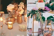 Bronze and copper wedding details