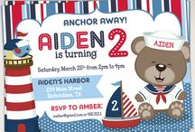 Sailor Bear Nautical Birthday Ideas