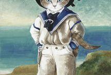 Котохудожница Сьюзен Герберт (Susan Herbert) / Оригиналы и кошки. Susan Herbert - английская художница, наша современница. Мир Херберт - кошачье царство, где кошки повсюду- и на классических картинах, и в бытовых сценах, и в сказках...
