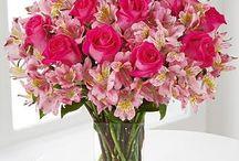Centros de mesa copas flor natural