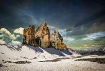 Majestic three peaks