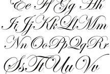Fancy cursive writing