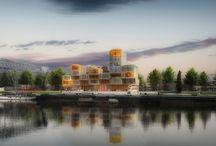Lumiflats / Residential modular building using the LUMICENE window system