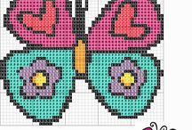 borboletas de ponto cruz