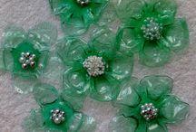 garden plastic flowers