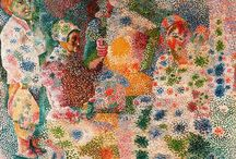 "Pointillism / Pointillism is a technique of painting in which small, distinct dots of color are applied in patterns to form an image. Georges Seurat and Paul Signac developed the technique in 1886, branching from Impressionism. The term ""Pointillism"" was first coined by art critics in the late 1880s to ridicule the works of these artists, and is now used without its earlier mocking connotation."