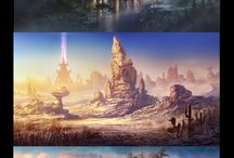 Magic places / Magic places, locations, worlds, fantasy, graphics, art
