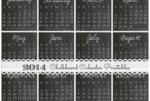 Art & Craft - Free Printables - Calendars