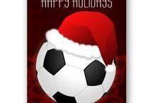 Sports Holiday Greeting Cards / trendy sports holiday cards, sports christmas cards, chalkboard cards , #Christmas #holidays #cards #greetingcards #festivity #season #sports #basketball #baseball #soccer #football #rugby #golf #billiard