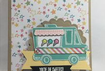 Tasty truck cards using Stampin Up! products