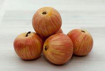 Фрукты  муляж. Fruit dummy. / Муляжи продуктов искусственные в ассортименте - Муляж яблока и груши, апельсина и банана, сливы, капусты и тыквы