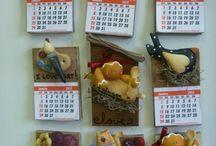 Placas e calendarios