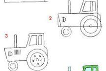 Ako nakresliť dopravne prostriedky