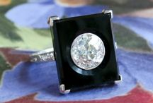 Onyx Finds / One of a kind estate, vintage & antique onyx jewelry from Jewelry Finds®!!!