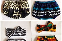 Children's fashion from various African countries