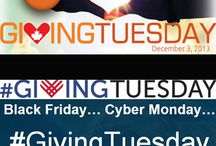 #GivingTuesday / We have a day for giving thanks. We have two for getting deals… Wouldn't it be great to have a day for giving back? #GivingTuesday happens the day after Cyber Monday.