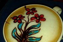 Latte art flower power