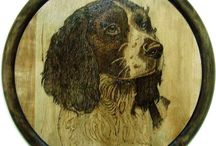art of pyrographie / Pyrographies on solid wood. Self made by Giuseppe Ambrosino