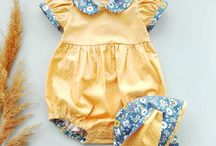 Baby romper, dresses for little girl / www.instagram.com/lyalya.kids/ Baby romper handmade, cotton dresses for little girls