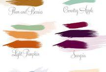 Deep autumn color palettes