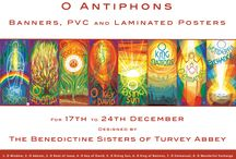 O Antiphon Posters and Banners for Advent and Christmas by The Benedictine Sisters of Turvey Abbey / Magnificent set of eight O Antiphon designs for the 17th to 24th December, Advent and Christmas, by The Benedictine Sisters of Turvey Abbey. Available as A4 or A3 laminated posters from £3.00 each (+ VAT £3.60), PCV poster set in a larger size 98cm x 44cm from £216.00 (+ VAT £259.20), or as fabulous full size banners - sets of all 8 banners start at £695.00 (+ VAT £834) for roller banners. We can print PCV poster sets in a customised size to order; contact us to discuss your requirements.